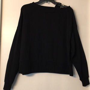 H&M Divided Black One Shoulder Sweatshirt Sz S